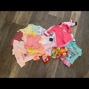 Lot of baby girl clothes!! NB - 9 months
